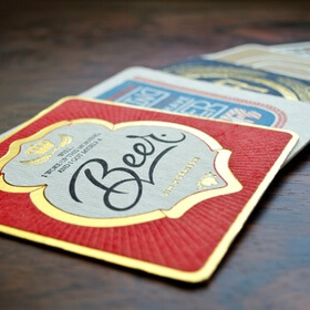 Beermats and beverage coasters